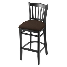 "3120 30"" Bar Stool with Black Finish and Rein Coffee Seat"