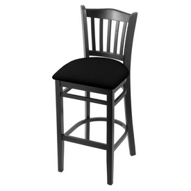 "3120 30"" Bar Stool with Black Finish and Black Vinyl Seat"