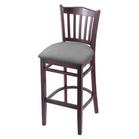 "3120 25"" Counter Stool with Dark Cherry Finish and Canter Folkstone Grey Seat"