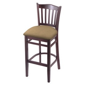 """3120 30"""" Bar Stool with Dark Cherry Finish and Canter Sand Seat"""