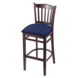 "3120 25"" Counter Stool with Dark Cherry Finish and Graph Anchor Seat"