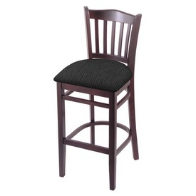 "3120 25"" Counter Stool with Dark Cherry Finish and Graph Coal Seat"