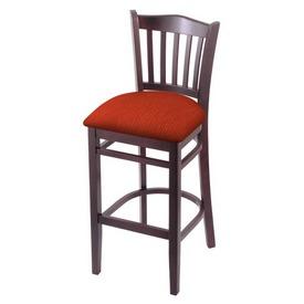 "3120 30"" Bar Stool with Dark Cherry Finish and Graph Poppy Seat"