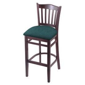"3120 30"" Bar Stool with Dark Cherry Finish and Graph Tidal Seat"