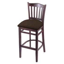 "3120 30"" Bar Stool with Dark Cherry Finish and Rein Coffee Seat"