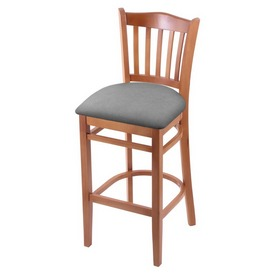 "3120 30"" Bar Stool with Medium Finish and Canter Folkstone Grey Seat"