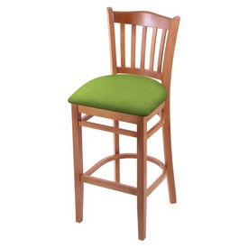 "3120 25"" Counter Stool with Medium Finish and Canter Kiwi Green Seat"
