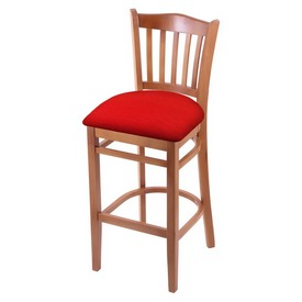 "3120 25"" Counter Stool with Medium Finish and Canter Red Seat"