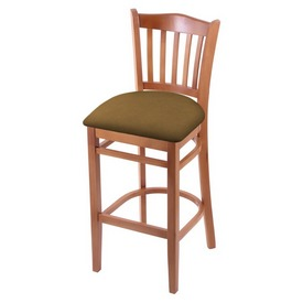 "3120 30"" Bar Stool with Medium Finish and Canter Saddle Seat"