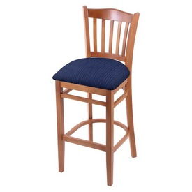 "3120 30"" Bar Stool with Medium Finish and Graph Anchor Seat"
