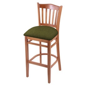 "3120 25"" Counter Stool with Medium Finish and Graph Parrot Seat"