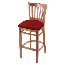 "3120 30"" Bar Stool with Medium Finish and Graph Ruby Seat"