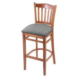 "3120 25"" Counter Stool with Medium Finish and Graph Alpine Seat"