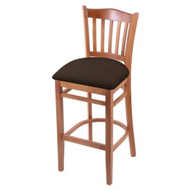 "3120 30"" Bar Stool with Medium Finish and Rein Coffee Seat"