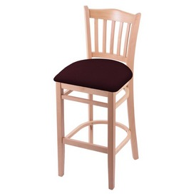"3120 30"" Bar Stool with Natural Finish and Canter Bordeaux Seat"