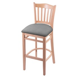 """3120 30"""" Bar Stool with Natural Finish and Canter Folkstone Grey Seat"""