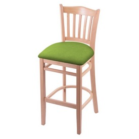 "3120 30"" Bar Stool with Natural Finish and Canter Kiwi Green Seat"