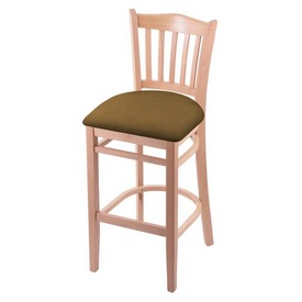 """3120 25"""" Counter Stool with Natural Finish and Canter Saddle Seat"""