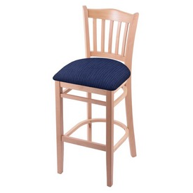 "3120 25"" Counter Stool with Natural Finish and Graph Anchor Seat"