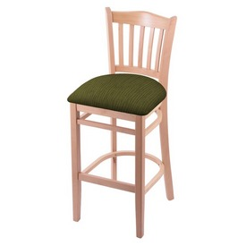 """3120 25"""" Counter Stool with Natural Finish and Graph Parrot Seat"""