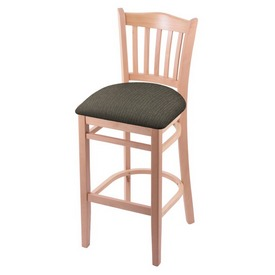 """3120 30"""" Bar Stool with Natural Finish and Graph Chalice Seat"""