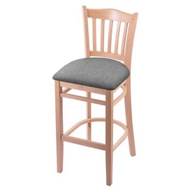"3120 30"" Bar Stool with Natural Finish and Graph Alpine Seat"