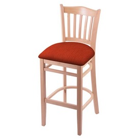 "3120 25"" Counter Stool with Natural Finish and Graph Poppy Seat"
