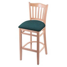 """3120 30"""" Bar Stool with Natural Finish and Graph Tidal Seat"""