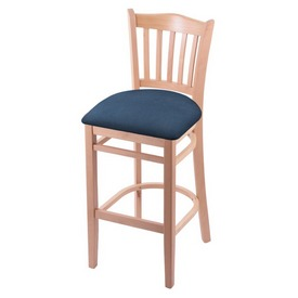 "3120 30"" Bar Stool with Natural Finish and Rein Bay Seat"