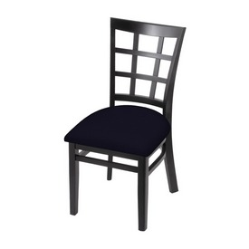 """3130 18"""" Chair with Black Finish and Canter Twilight Seat"""