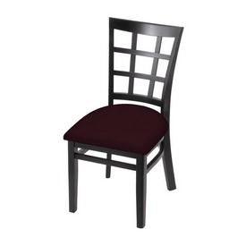 """3130 18"""" Chair with Black Finish and Canter Bordeaux Seat"""