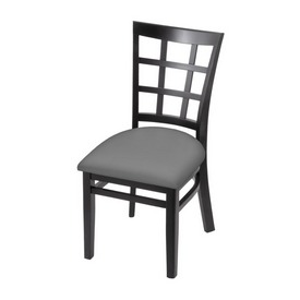 """3130 18"""" Chair with Black Finish and Canter Folkstone Grey Seat"""