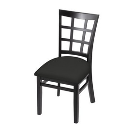"""3130 18"""" Chair with Black Finish and Canter Iron Seat"""