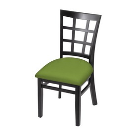 """3130 18"""" Chair with Black Finish and Canter Kiwi Green Seat"""