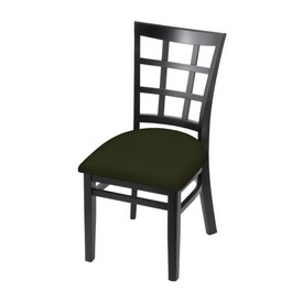 """3130 18"""" Chair with Black Finish and Canter Pine Seat"""