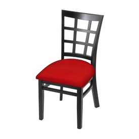 """3130 18"""" Chair with Black Finish and Canter Red Seat"""