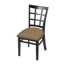 """3130 18"""" Chair with Black Finish and Canter Sand Seat"""