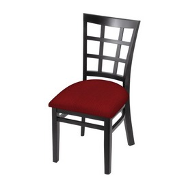 """3130 18"""" Chair with Black Finish and Graph Ruby Seat"""
