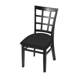 """3130 18"""" Chair with Black Finish and Graph Coal Seat"""
