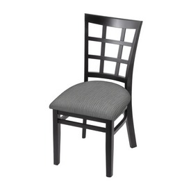 """3130 18"""" Chair with Black Finish and Graph Alpine Seat"""