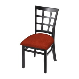"""3130 18"""" Chair with Black Finish and Graph Poppy Seat"""
