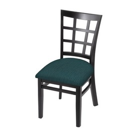 """3130 18"""" Chair with Black Finish and Graph Tidal Seat"""
