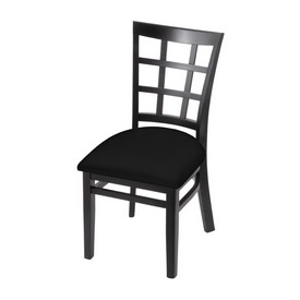 """3130 18"""" Chair with Black Finish and Black Seat"""