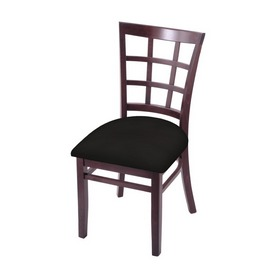 """3130 18"""" Chair with Dark Cherry Finish and Canter Espresso Seat"""