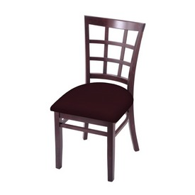 """3130 18"""" Chair with Dark Cherry Finish and Canter Bordeaux Seat"""
