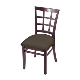"""3130 18"""" Chair with Dark Cherry Finish and Canter Earth Seat"""
