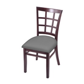 """3130 18"""" Chair with Dark Cherry Finish and Canter Folkstone Grey Seat"""
