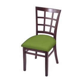 """3130 18"""" Chair with Dark Cherry Finish and Canter Kiwi Green Seat"""