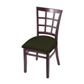 """3130 18"""" Chair with Dark Cherry Finish and Canter Pine Seat"""
