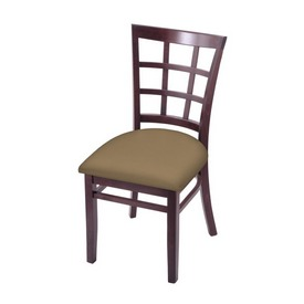 """3130 18"""" Chair with Dark Cherry Finish and Canter Sand Seat"""
